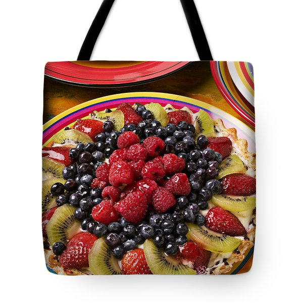 Fruit Tart Pie Tote Bag by Garry Gay