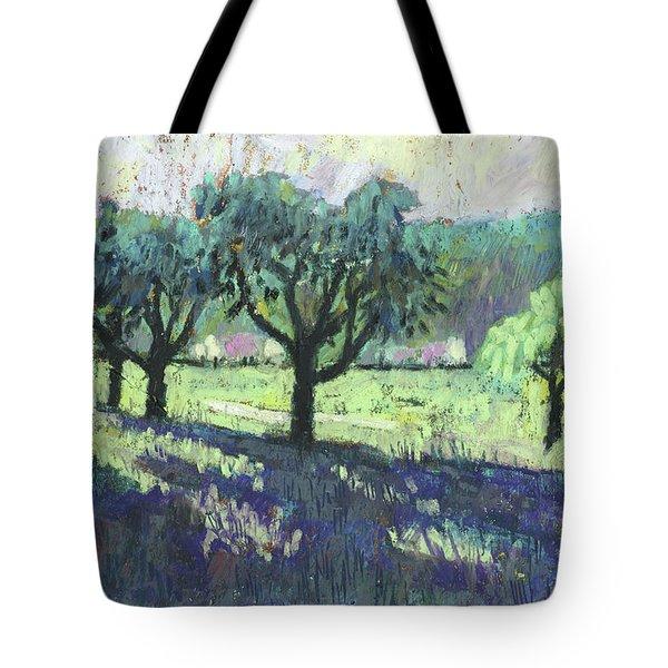 Fruit Trees, Spring Landscape Tote Bag by Martin Stankewitz