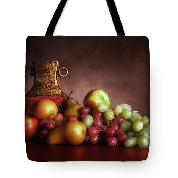Fruit With Vase Tote Bag by Tom Mc Nemar