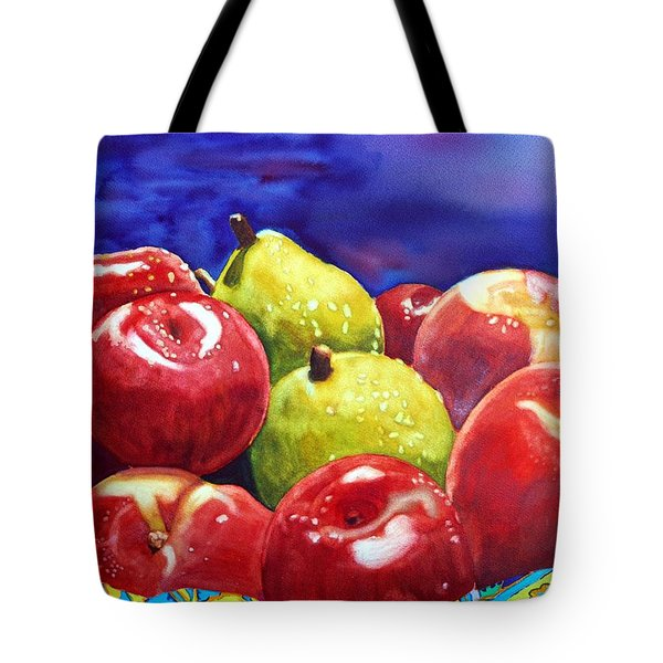 Fruitfully Yours Tote Bag by Gerald Carpenter