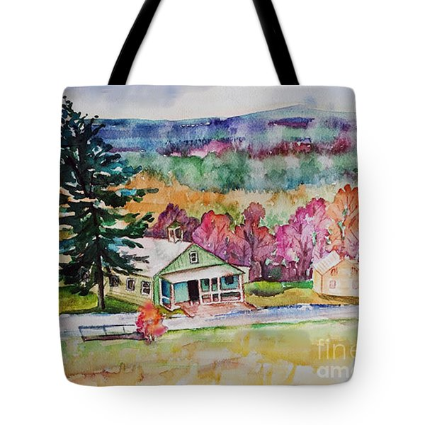 Tote Bag featuring the painting Fruitlands IIi by Priti Lathia