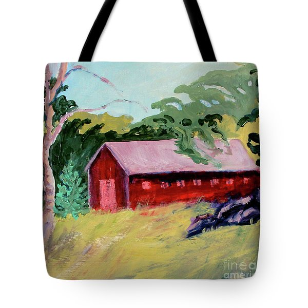 Tote Bag featuring the painting Fruitlands Iv by Priti Lathia
