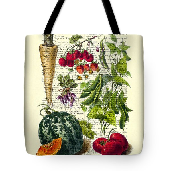 Fruits And Vegetables Kitchen Decoration Tote Bag