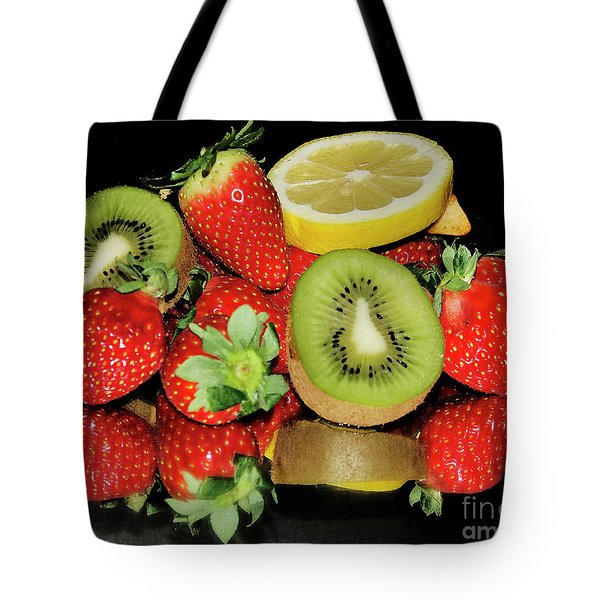 Tote Bag featuring the photograph Fruits by Elvira Ladocki