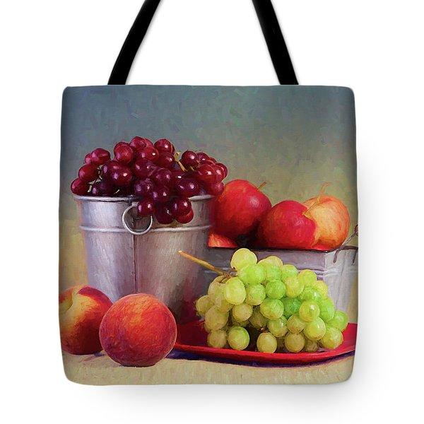 Fruits On Centerstage Tote Bag
