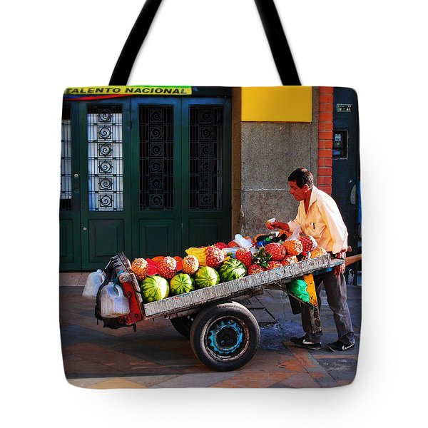 Tote Bag featuring the photograph Fruta Limpia by Skip Hunt