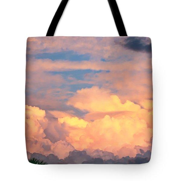 Ft De Soto Sunset Clouds Tote Bag