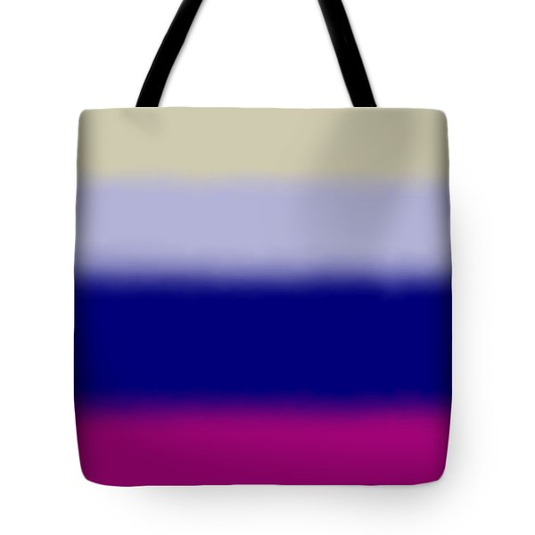 Fuchsia And Blue - Sq Block Tote Bag