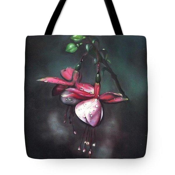 Fuchsia And Dew  Tote Bag