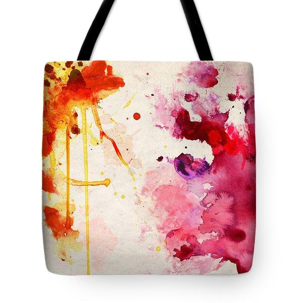 Fuchsia And Orange Color Splash Tote Bag