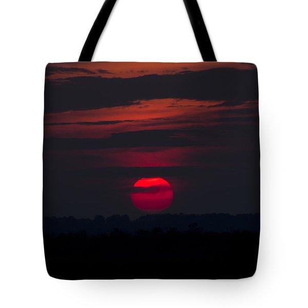 Fuchsia Dusk  Tote Bag by Nancy Dinsmore