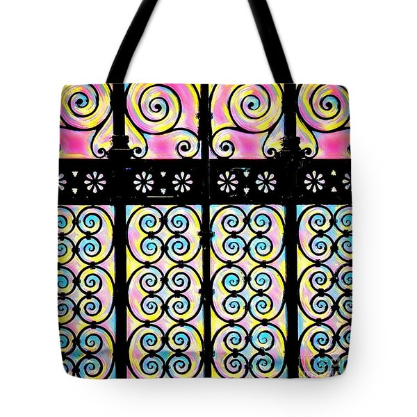 Fuchsia Gate  Tote Bag