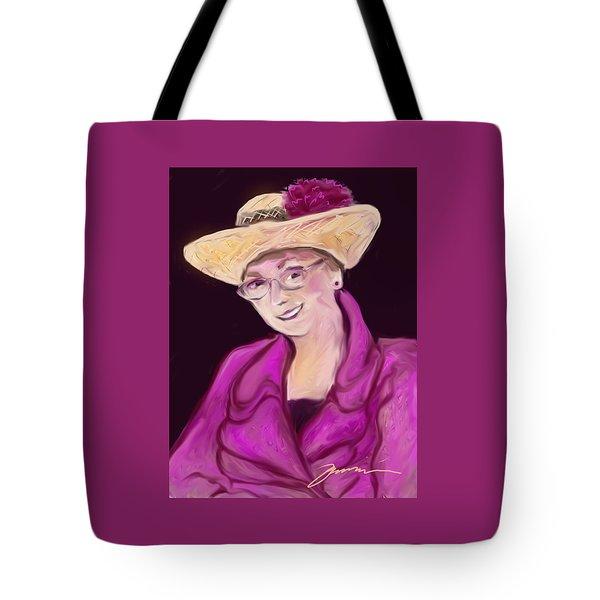 Fuchsia Hat Tote Bag