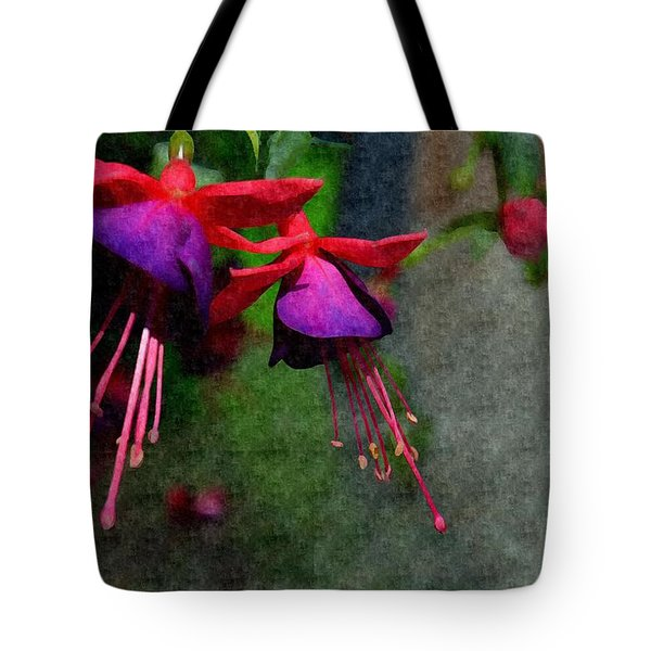 Fuchsia's Beating As One Together -silk Edit Tote Bag