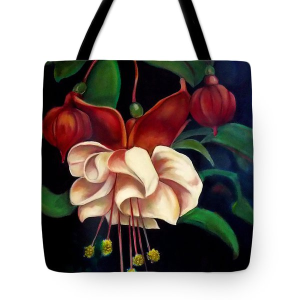 Tote Bag featuring the painting Fuchsias by Irena Mohr