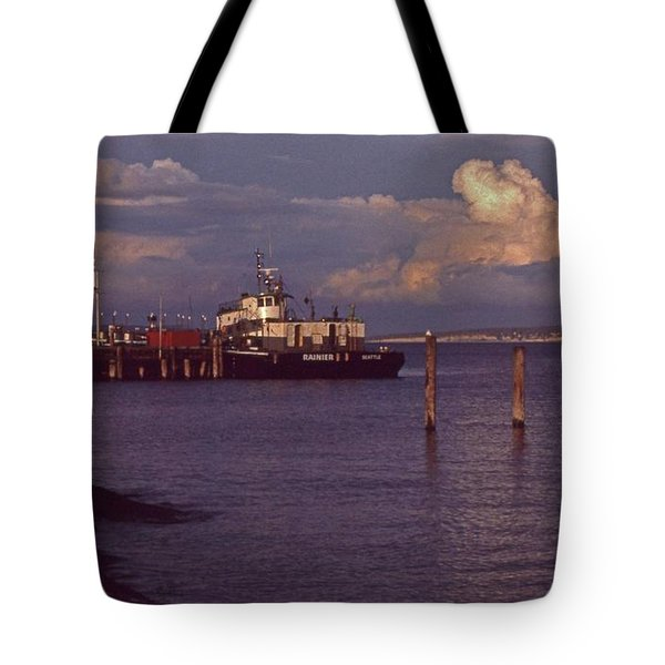 Fuel Dock, Port Townsend Tote Bag