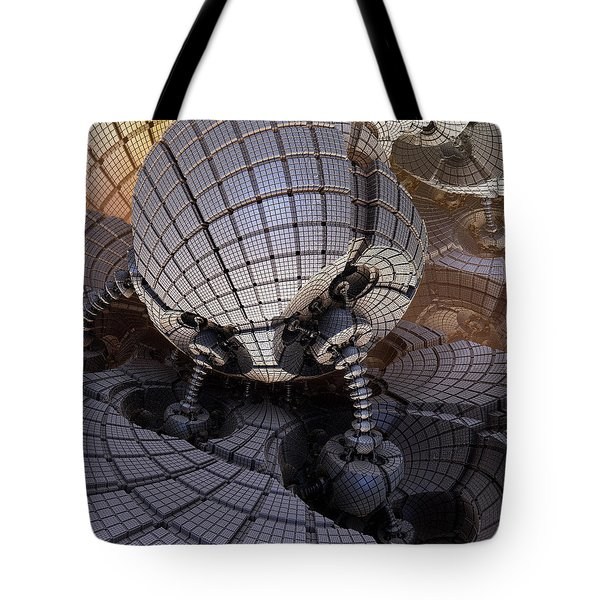 Tote Bag featuring the digital art Fueling Station On Alpha I by Richard Ortolano