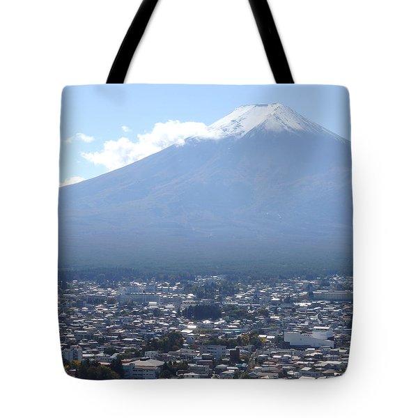 Fuji From Churei Tower Tote Bag