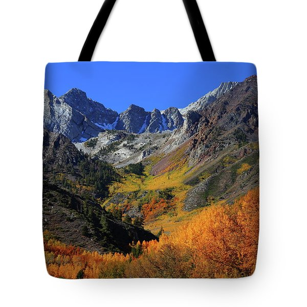 Full Autumn Display At Mcgee Creek Canyon In The Eastern Sierras Tote Bag