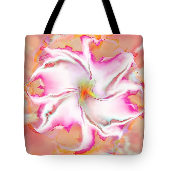 Tote Bag featuring the digital art Full Bloom by Richard Ortolano