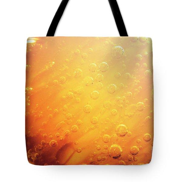 Full Frame Close Up Of Orange Soda Water Tote Bag