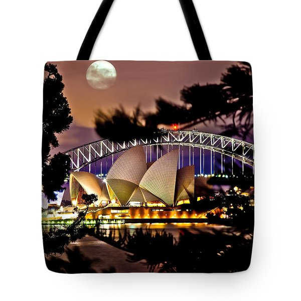 Full Moon Above Tote Bag