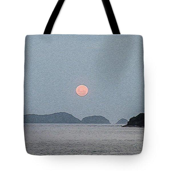 Full Moon At The Beach Tote Bag