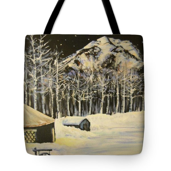 Full Moon At The Sundance Nordic Center Tote Bag