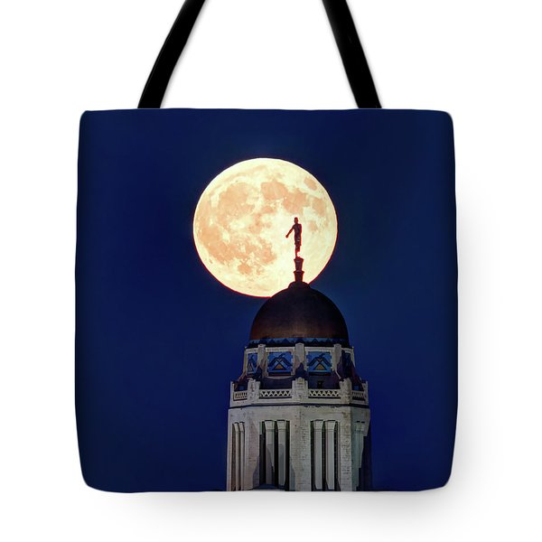 Full Moon Before The Eclipse Tote Bag