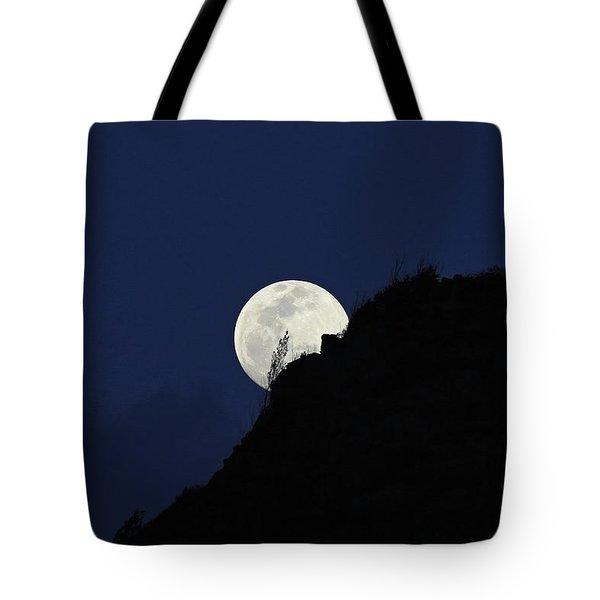 Full Moon Behind Makapu'u Tote Bag