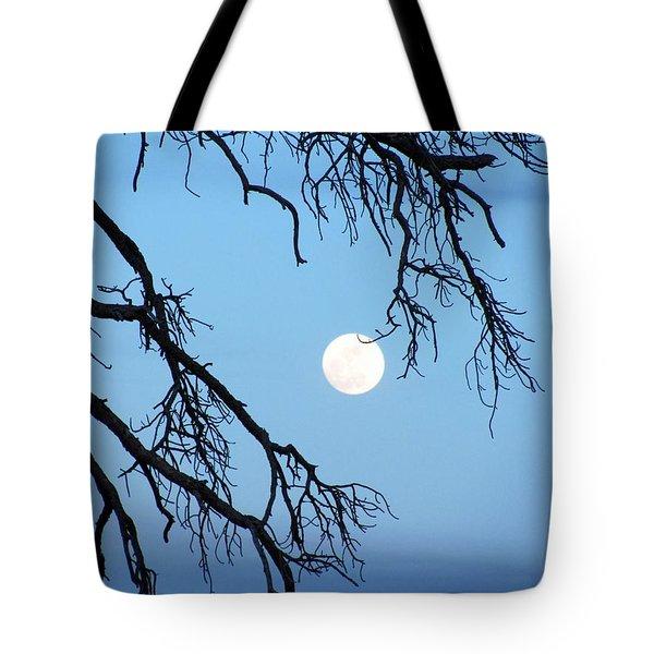 Full Moon Blue Sky Tote Bag