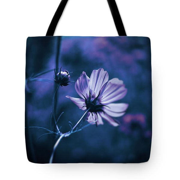 Full Moon Cosmos Tote Bag