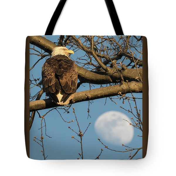Full Moon Eagle  Tote Bag