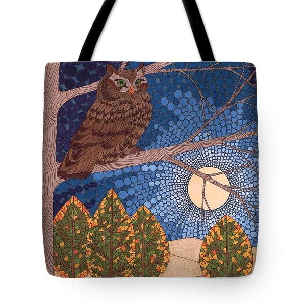 Full Moon Illumination Tote Bag