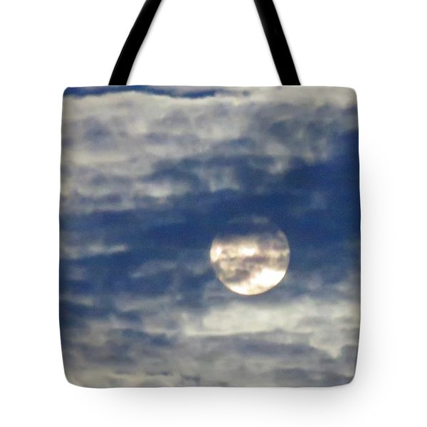 Full Moon In Gemini With Clouds Tote Bag