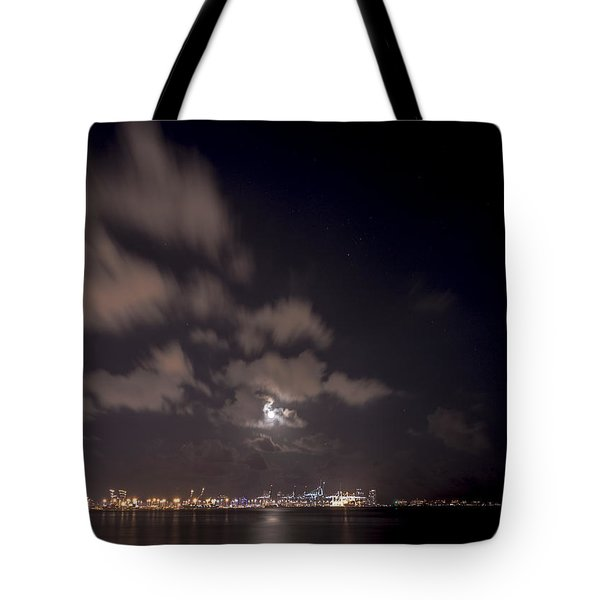 Full Moon In Miami Tote Bag