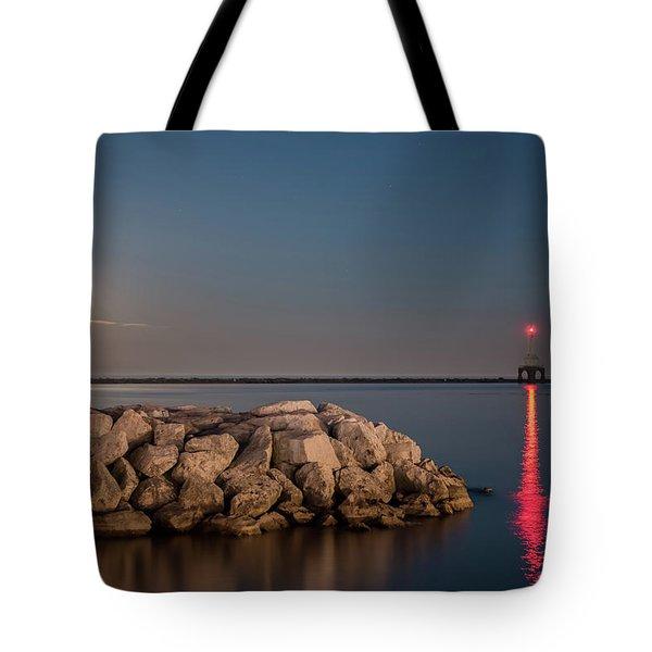 Full Moon In Port Tote Bag