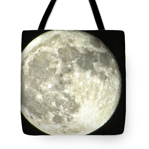 Tote Bag featuring the photograph Full Moon Love by Nikki McInnes