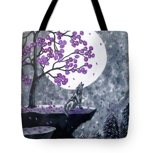 Tote Bag featuring the painting Full Moon Magic by Teresa Wing