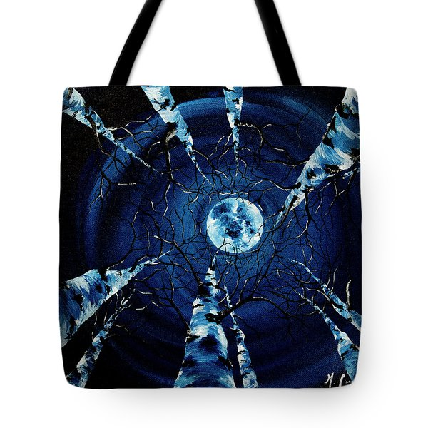 Tote Bag featuring the painting Full Moon by Melinda Cummings