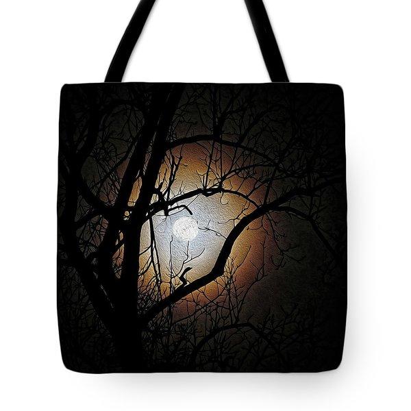 Full Moon Oil Painting Tote Bag