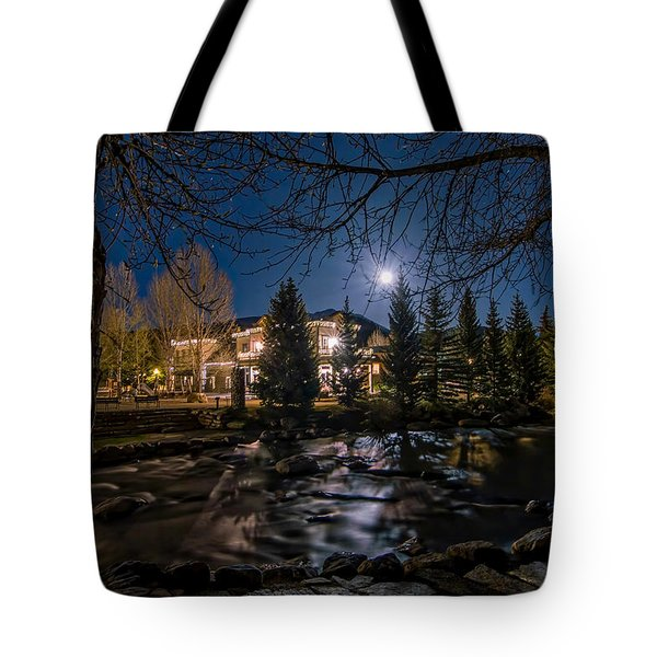 Full Moon Over Breckenridge Tote Bag