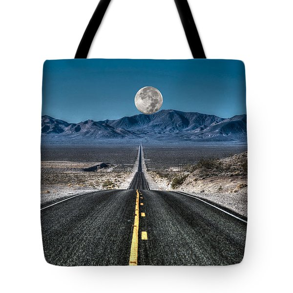 Full Moon Over Death Valley Tote Bag