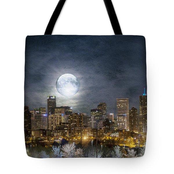 Full Moon Over Denver Tote Bag