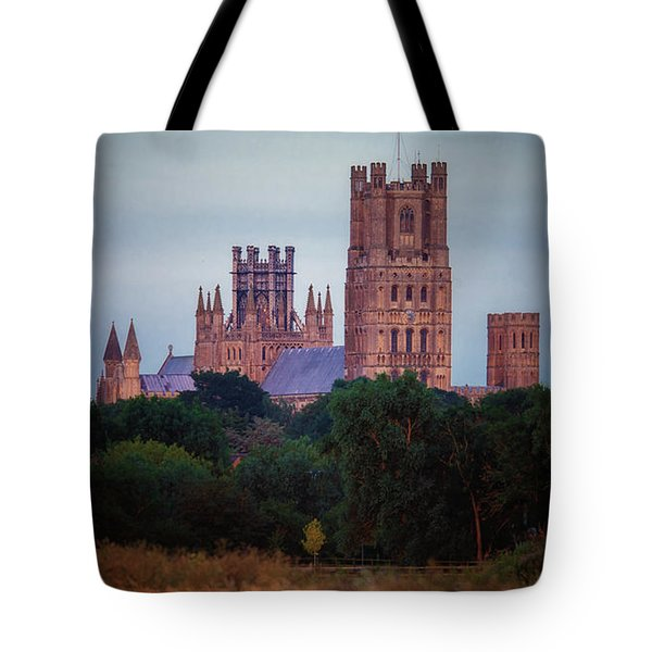 Tote Bag featuring the photograph Full Moon Over Ely Cathedral by James Billings