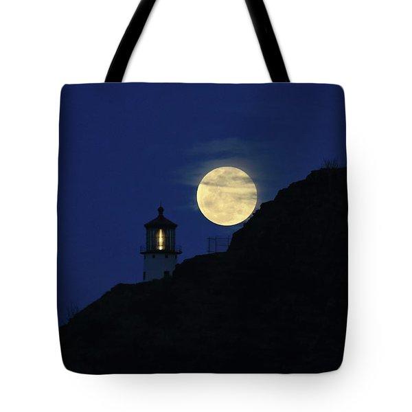 Full Moon Over Makapu'u Light Tote Bag
