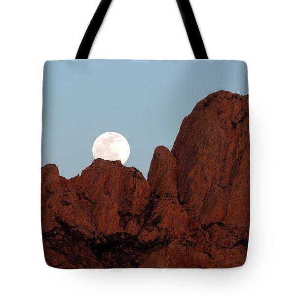 Full Moon Over Mountain  Tote Bag