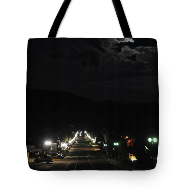 Full Moon Over Red River Tote Bag