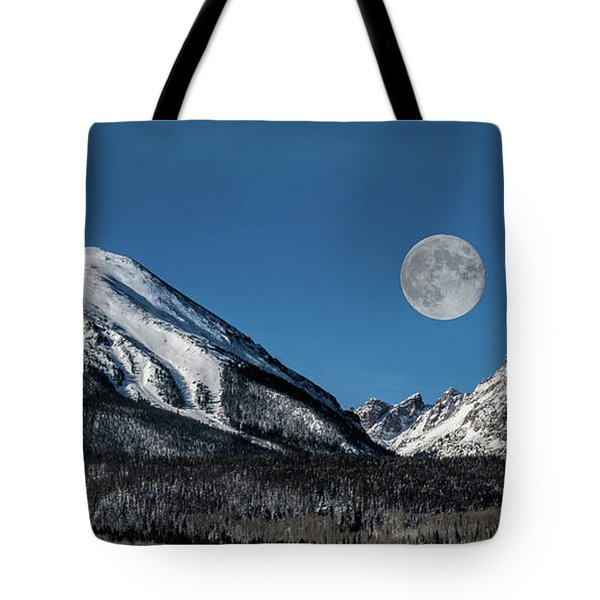 Full Moon Over Silverthorne Mountain Tote Bag