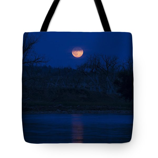 Full Moon Over The Tongue Tote Bag